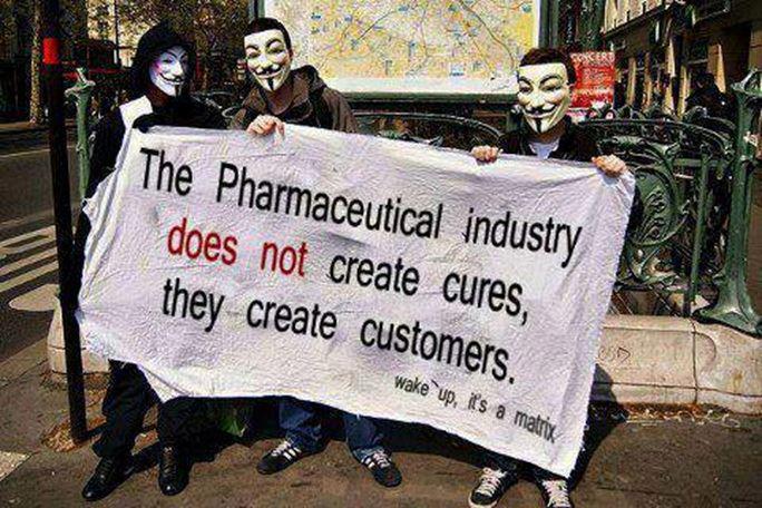 A Indústria Farmacêutica promove doenças para as quais há prevenção e tratamento de baixo custo.